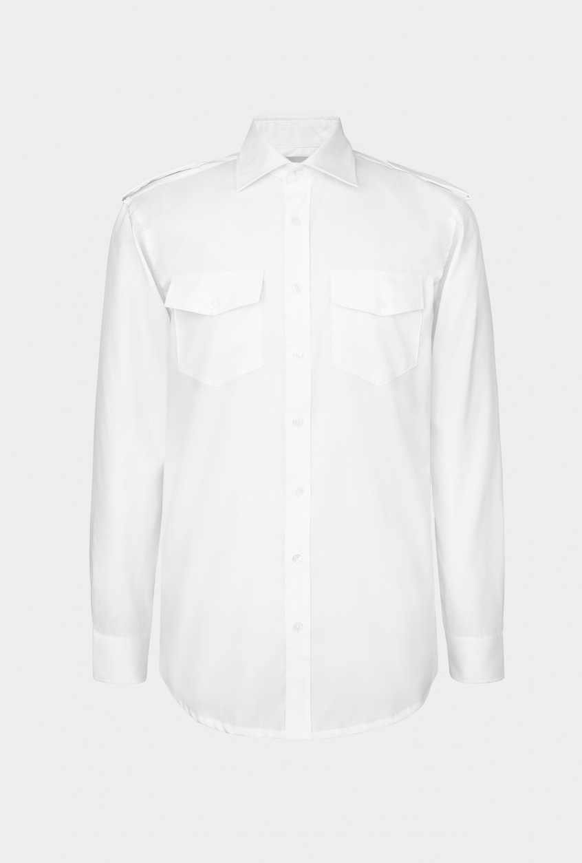 Men's pilot shirt Jens, long sleeve