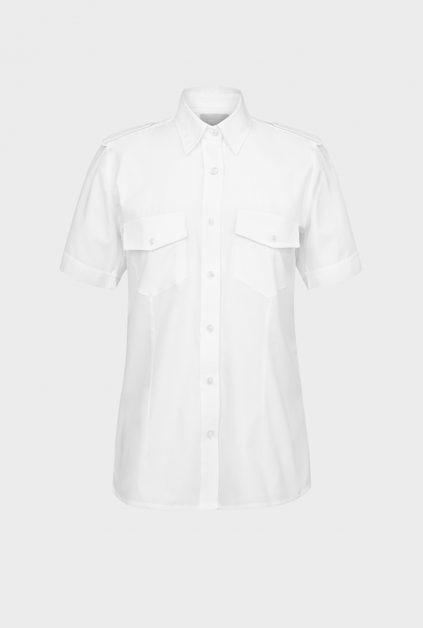 Ladies pilot shirt Frida, short sleeve