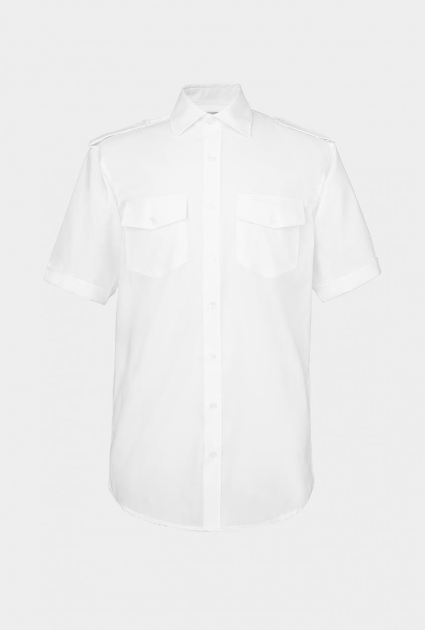 Men's pilot shirt Jens, short sleeve